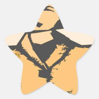 Formas del dibujo animado pegatina en forma de estrella