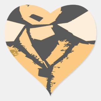 Formas del dibujo animado pegatina en forma de corazón