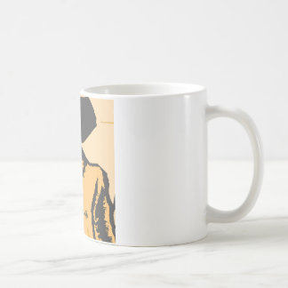 Formas del dibujo animado taza básica blanca