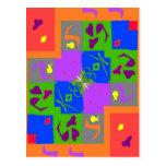Formas del estilo de Matisse Tarjetas Postales