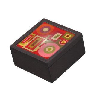 Formas del rojo de la MOD Caja De Regalo De Calidad
