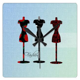 Formas del vestido de la moda reloj cuadrado