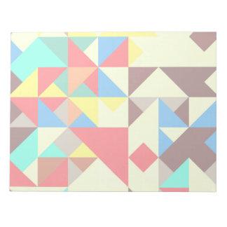 Formas en colores retros bloc de notas