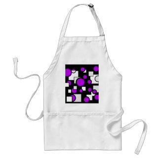 Formas en púrpura y blanco delantales