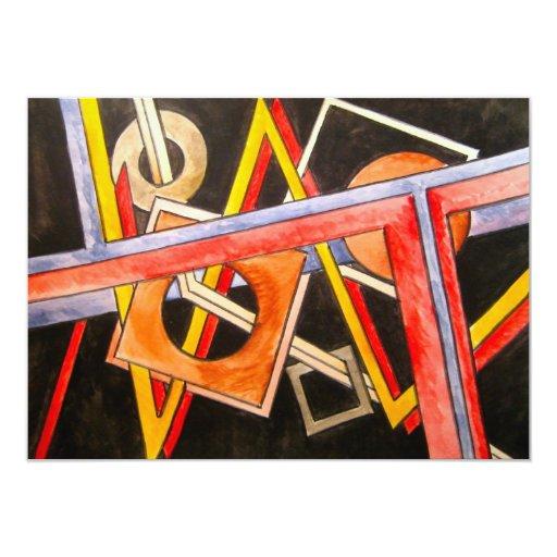 Formas flotantes - arte abstracto invitación 11,4 x 15,8 cm
