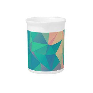 Formas geométricas abstractas coloridas de las jarrones