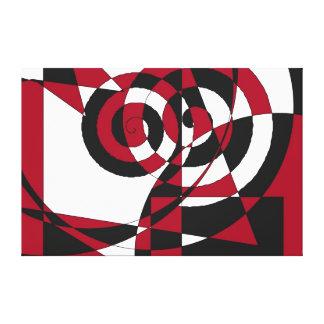 Formas geométricas abstractas negro blanco Remoli Impresión En Lona