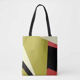 Formas geométricas al azar abstractas modernas bolsa de tela