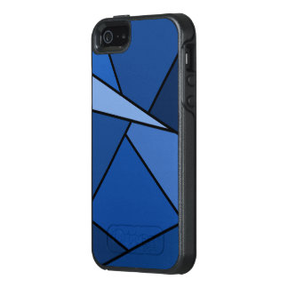 Formas geométricas azules abstractas funda otterbox para iPhone 5/5s/SE