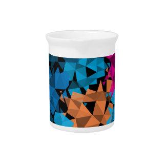 Formas geométricas coloridas 3D Jarras De Beber