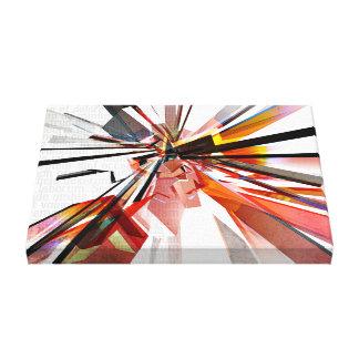 Formas geométricas coloridas con el texto lona envuelta para galerias