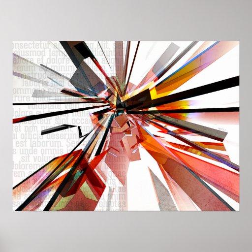 Formas geométricas coloridas con el texto poster