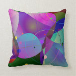 Formas geométricas coloridas del arte abstracto almohadas