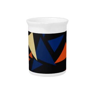 Formas geométricas coloridas jarra para bebida