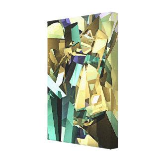 Formas geométricas coloridas impresión en lona estirada