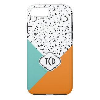 Formas geométricas coloridas modernas y salpicón funda iPhone 7