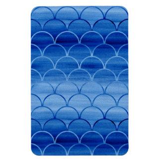 Formas geométricas de la fan de la acuarela del imán foto rectangular