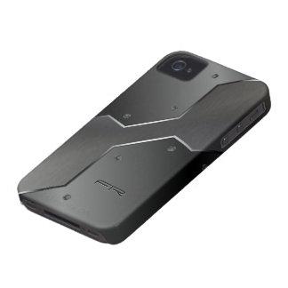 Formas geométricas de la mirada metálica gris Case-Mate iPhone 4 carcasa
