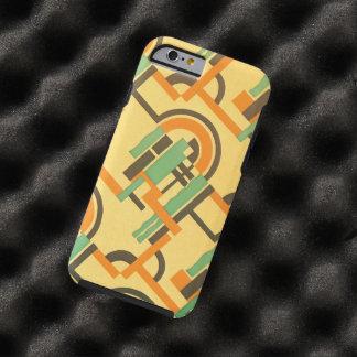 Formas geométricas del art déco del jazz del color funda para iPhone 6 tough