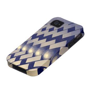 Formas geométricas del oro iPhone 4 carcasa