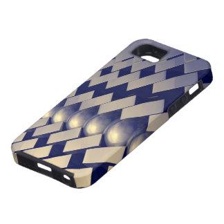 Formas geométricas del oro iPhone 5 cobertura