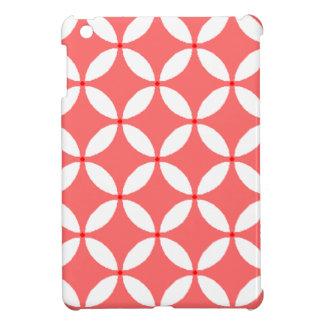 formas geometricas  em branco em fundo vermelho iPad mini case
