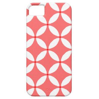 formas geometricas  em branco em fundo vermelho iPhone SE/5/5s case