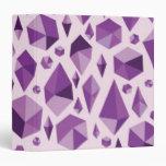 """Formas geométricas púrpuras de la joya carpeta 1 1/2"""""""