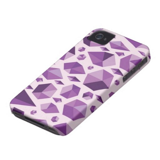 Formas geométricas púrpuras de la joya iPhone 4 funda