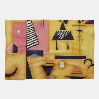 Formas geométricas rosadas decisivas abstractas de toalla de cocina