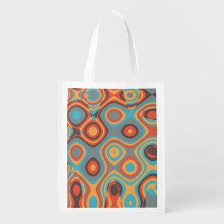 Formas irregulares coloridas bolsa de la compra