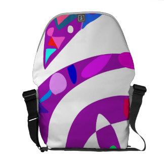 Formas irregulares púrpuras bolsas de mensajería
