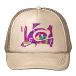 Formas irregulares púrpuras gorras