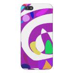 Formas irregulares púrpuras iPhone 5 fundas