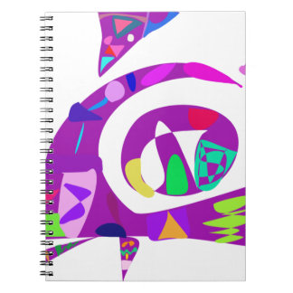 Formas irregulares púrpuras libro de apuntes con espiral