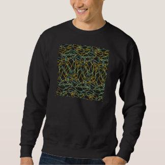 Formas orgánicas con el fondo negro jersey