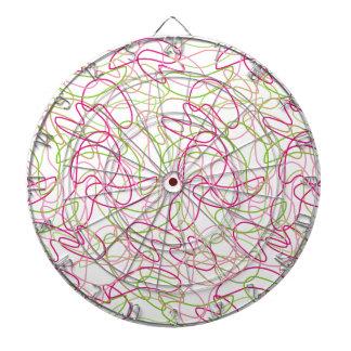 Formas orgánicas en rosa, oro y Backg blanco verde