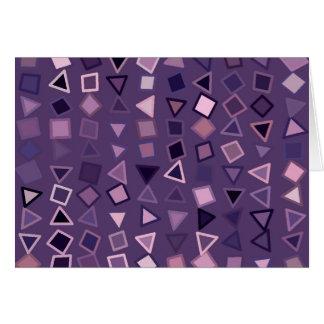 Formas púrpuras tarjeta de felicitación