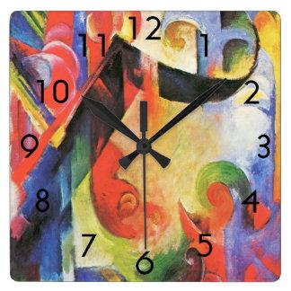 Formas quebradas de Franz Marc aka Zerbrochene Reloj De Pared