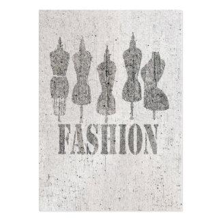 Formas retras simuladas del vestido del sastre del tarjetas de visita grandes