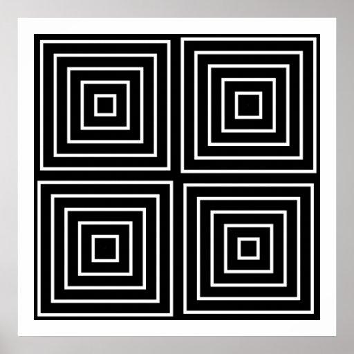 Formas simétricas de Op. Sys. 09 del arte solament Posters