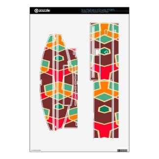 Formas torcidas en modelo retro de los colores skin para laConsola PS3