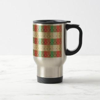Formas verdes rojas amarillas retras de Brown del  Tazas De Café