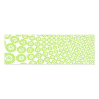 Formas verdes y blancas contra un fondo negro tarjetas de visita mini