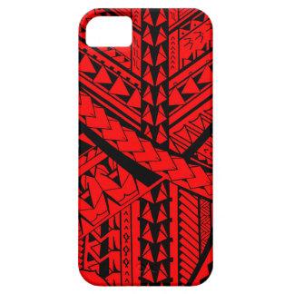 Formas y símbolos tribales samoanos/polinesios iPhone 5 carcasa