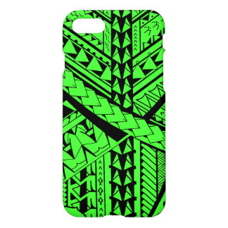 Formas y símbolos tribales samoanos/polinesios funda para iPhone 7