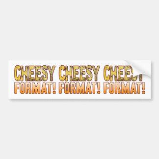 Format Blue Cheesy Bumper Sticker