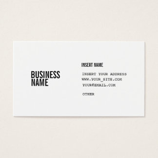 Format With Columns Condensed Fonts Business Card