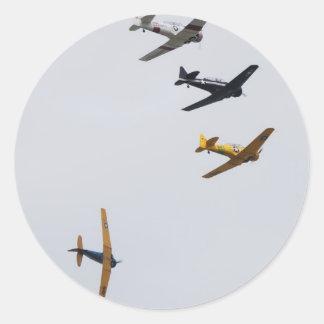 Formation Flight Classic Round Sticker