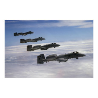 Formation of A-10 Planes Poster